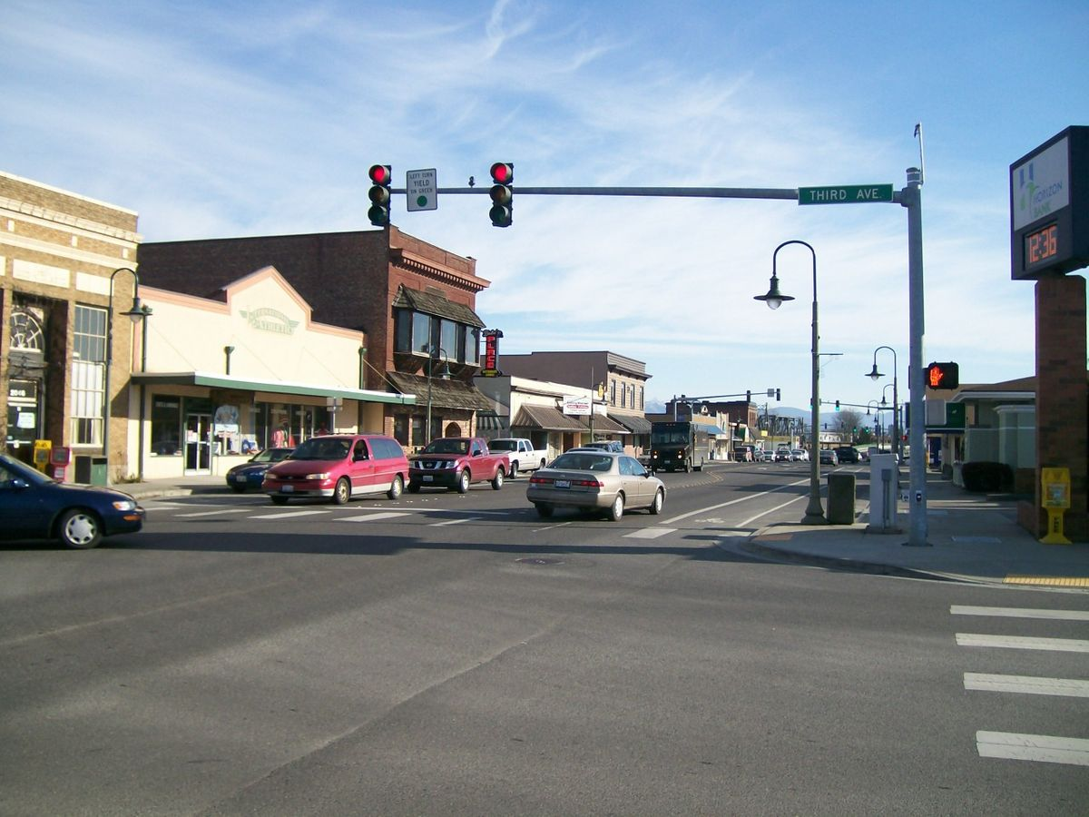 cars driving on Ferndale's Main Street