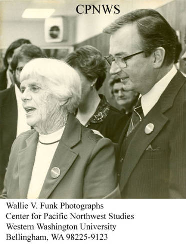 Former Congressman Al Swift, who taught journalism at Western, has died at the age of 82. In this image, Swift is hosting Lillian Carter, mother of former President Jimmy Carter, when she visited Washington.