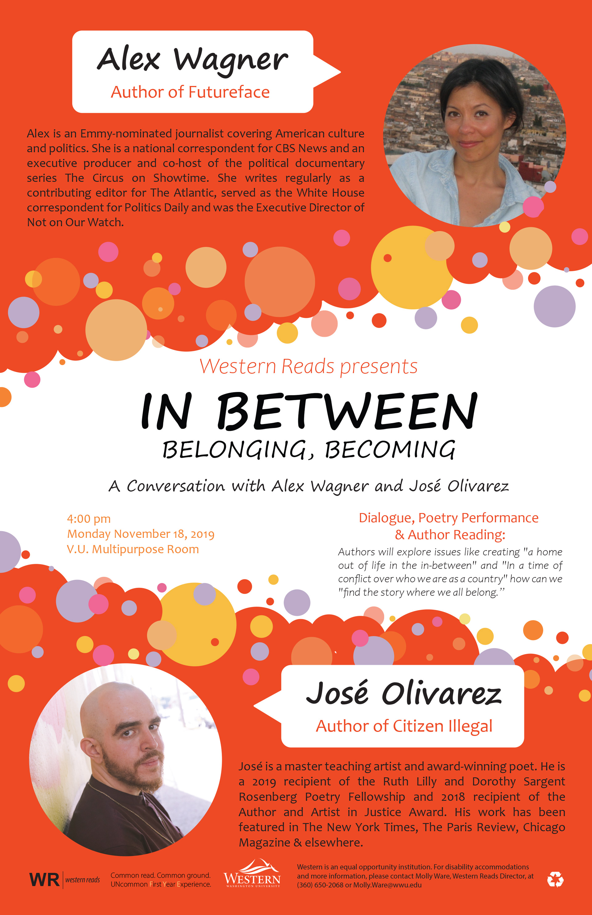 Western Reads: In Between, Belonging, Becoming Nov 18th
