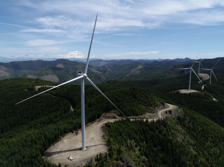 PSE's Skookumchuck wind facility high in the Cascade foothills