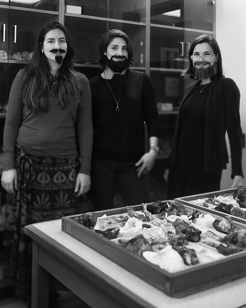University of California's Bearded Ladies pose for the camera
