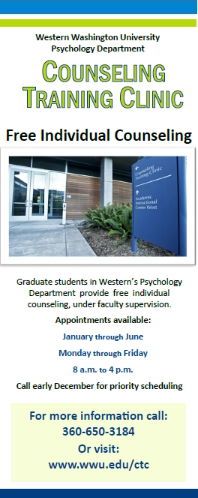 Psychology graduate students to begin  offering free counseling sessions in January