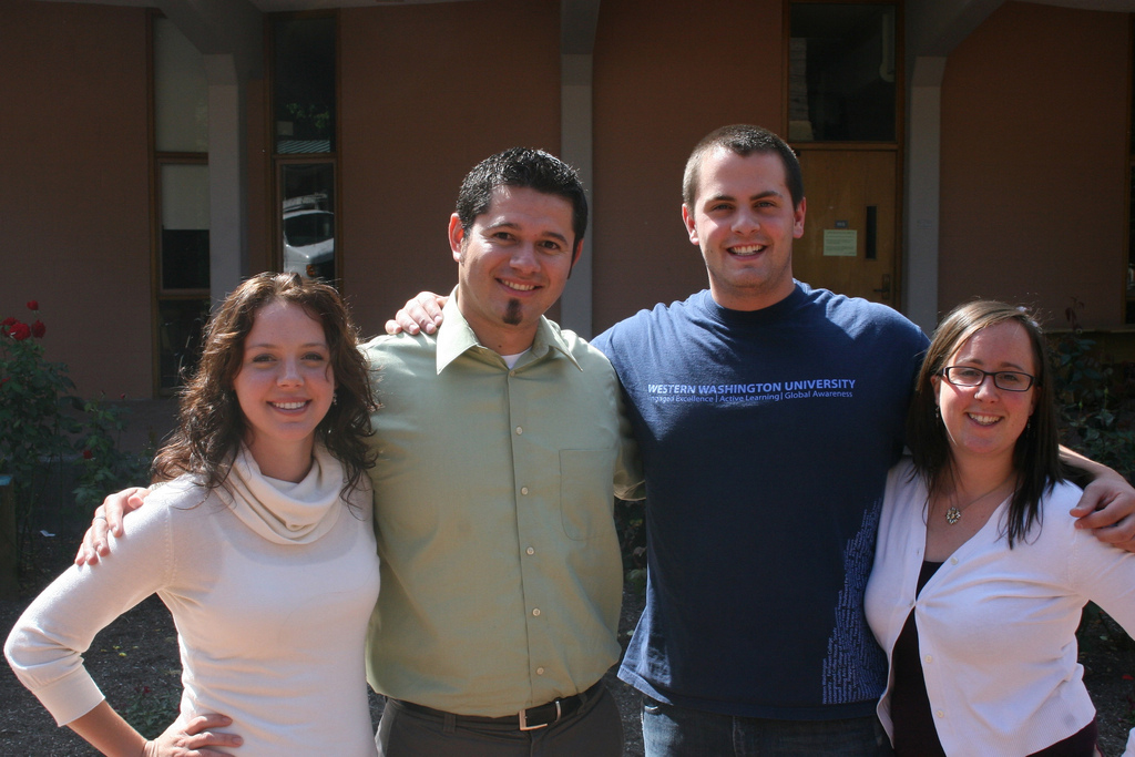 Left to right: Jessica Shasserre, Jose Rodriguez, Kayle Walls and Erin Jensen.