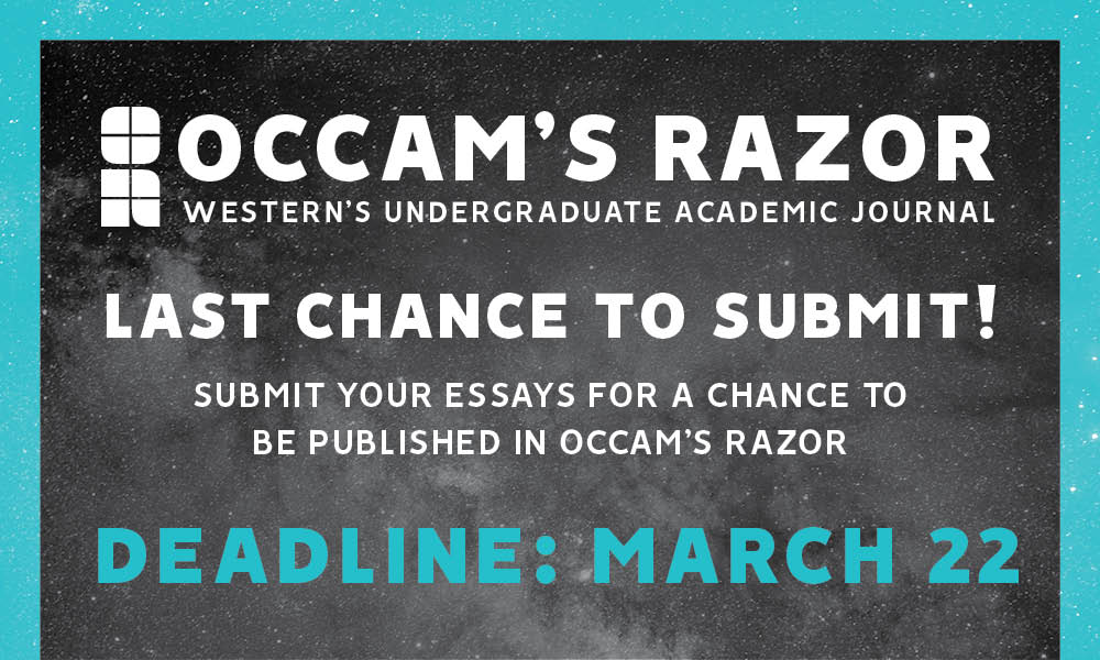 Occam's Razor taking submissions through March 22