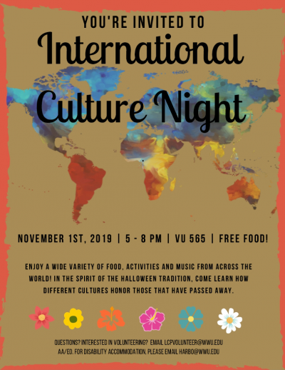 International Culture Night set for Nov. 1
