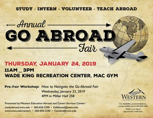 Go Abroad Fair set for Jan. 24