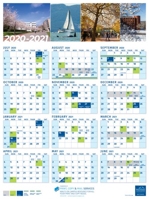 U Of A Academic Calendar 2021 2020 2021 WWU calendars now available | Western Today