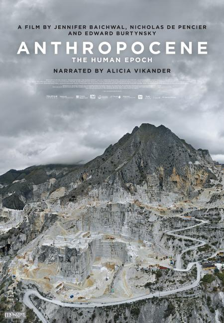 anthropocene movie poster features huge open pit mine