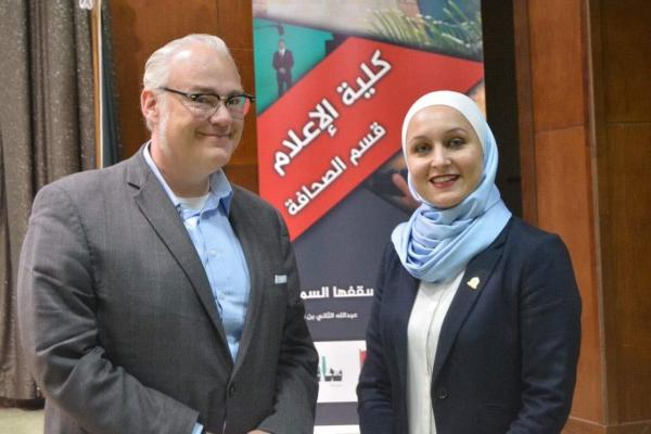 Journalism's Brian J  Bowe guest lectures at Yarmouk