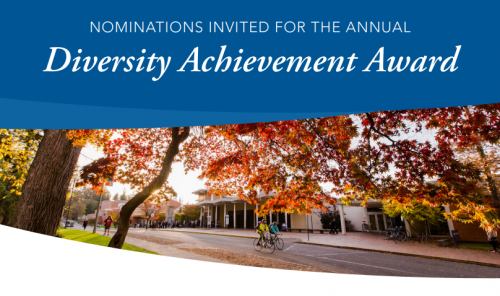 Poster for Nominations for Diversity Achievement Award