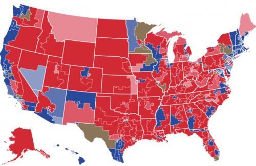 Midterm election map