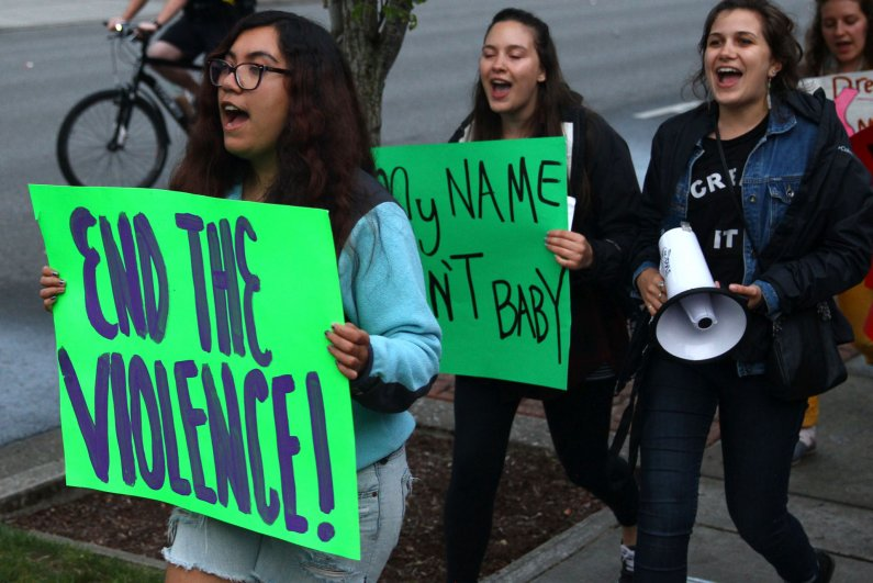 Western Washington University students marched from the Performing Arts Center to downtown Bellingham and back Tuesday, May 12, as part of Take Back the Night. The annual event aims to end street violence and harassment of marginalized gender identities.