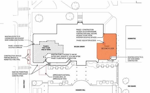 Construction update: Veteran Services and the Map Library