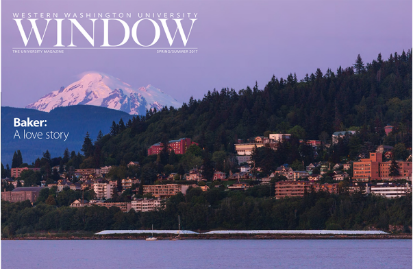Window Magazine Mount Baker edition cover; WWU image by Rhys Logan